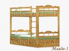 Недорогая двухъярусная кровать «Млада-1»