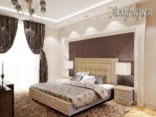 Кровать с большим изголовьем «Амфирея»