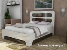 Белая кровать МДФ «Глянец Премиум — 5»