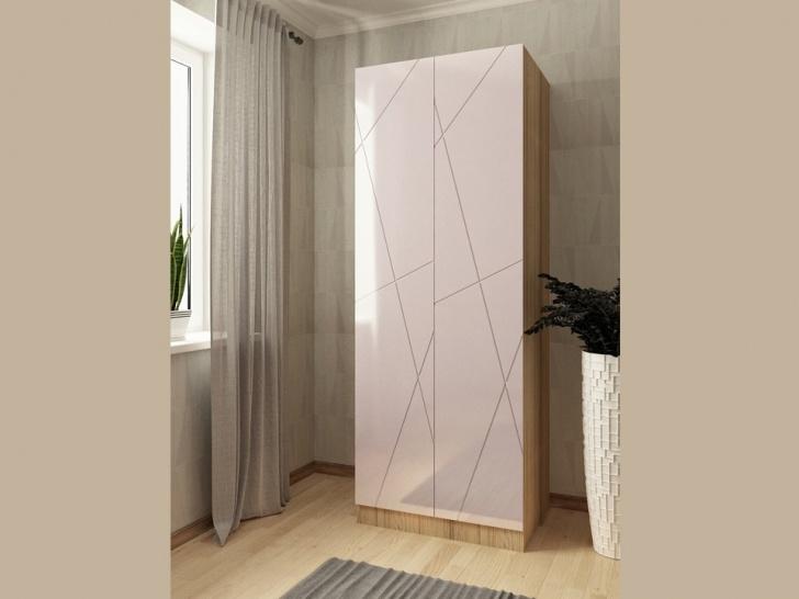 Белый распашной шкаф глянцевый «Виго – 12»