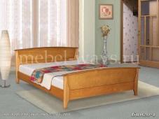 Недорогая кровать из дерева для дачи «Бинго-1»