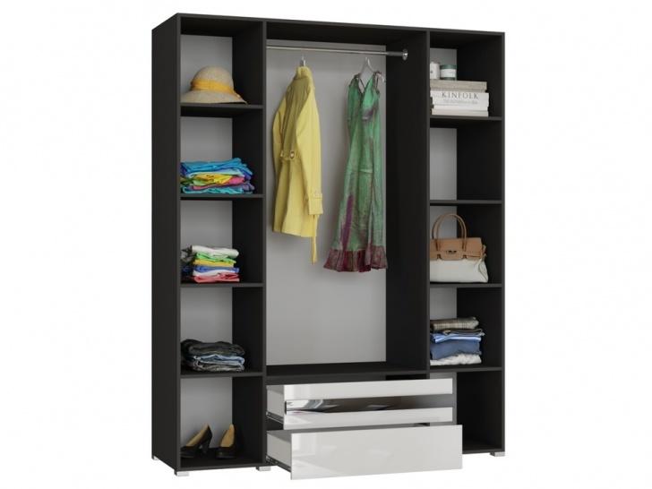Большой белый шкаф в спальню «Дизайн Люкс – 17» внутри
