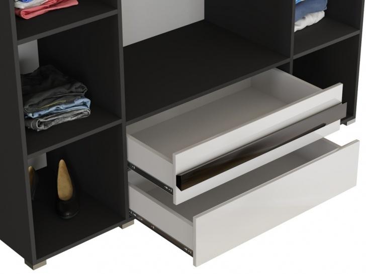 Большой белый шкаф в спальню «Дизайн Люкс – 17» с ящиками