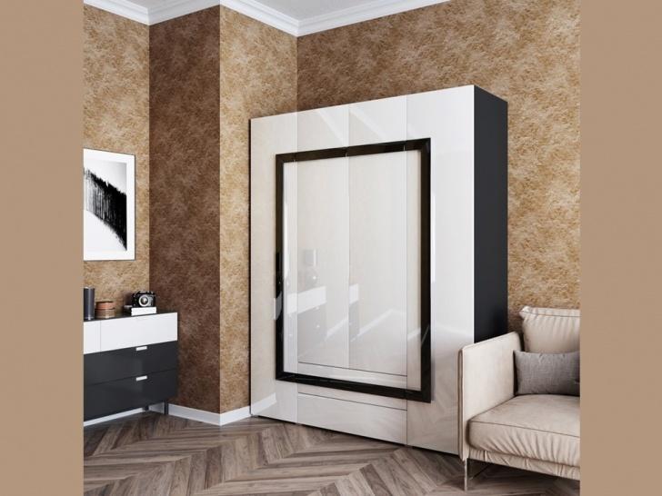 Большой белый шкаф в спальню «Дизайн Люкс – 17»
