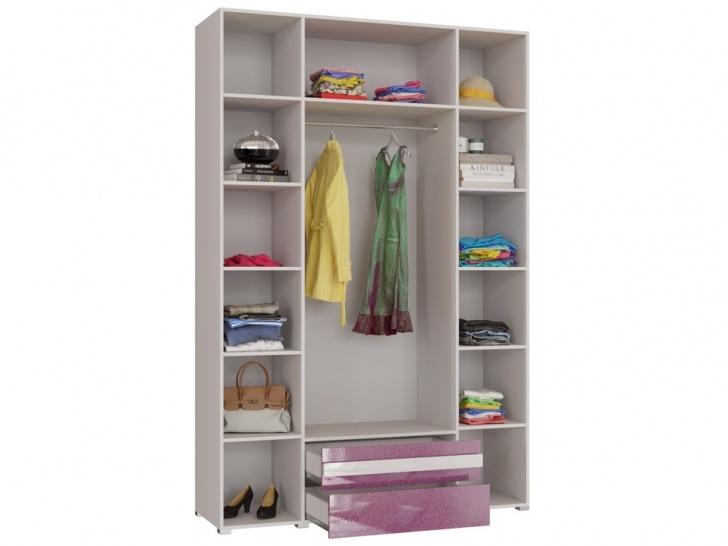 Большой шкаф для спальни «Дизайн Люкс – 19» внутри