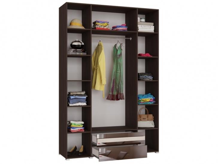 Четырехдверный шкаф с зеркалом «Дизайн Люкс – 20» вид внутри