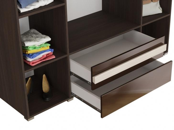 Четырехдверный шкаф с зеркалом «Дизайн Люкс – 20» с ящиками
