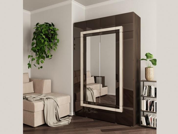 Четырехдверный шкаф с зеркалом «Дизайн Люкс – 20»