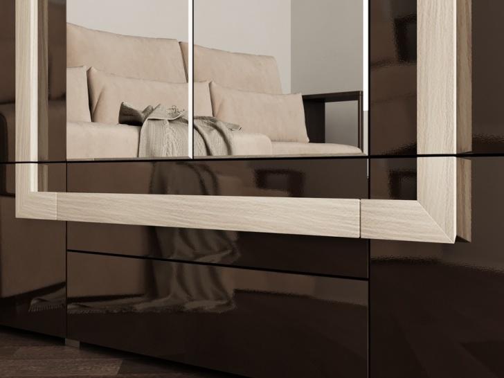 Четырехдверный шкаф с зеркалом «Дизайн Люкс – 20» с ручкой