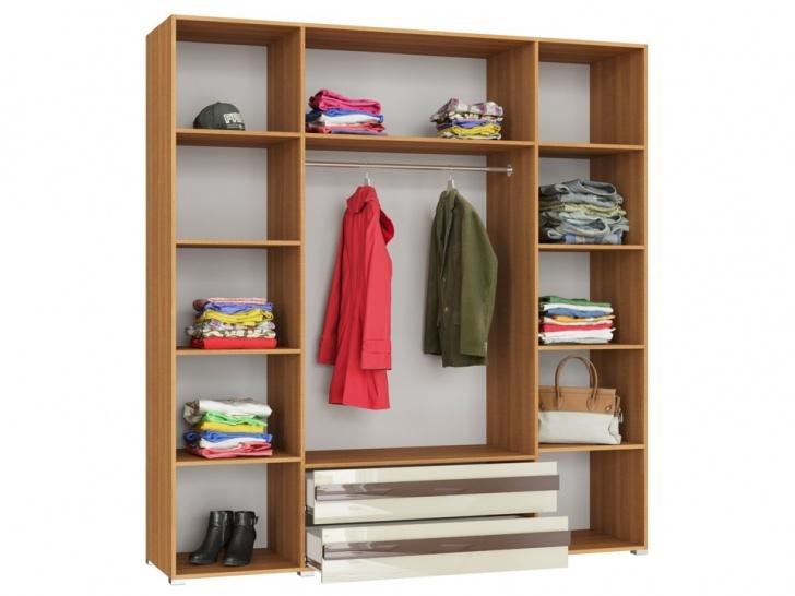 Четырехстворчатый шкаф «Дизайн Люкс – 14» вид внутри