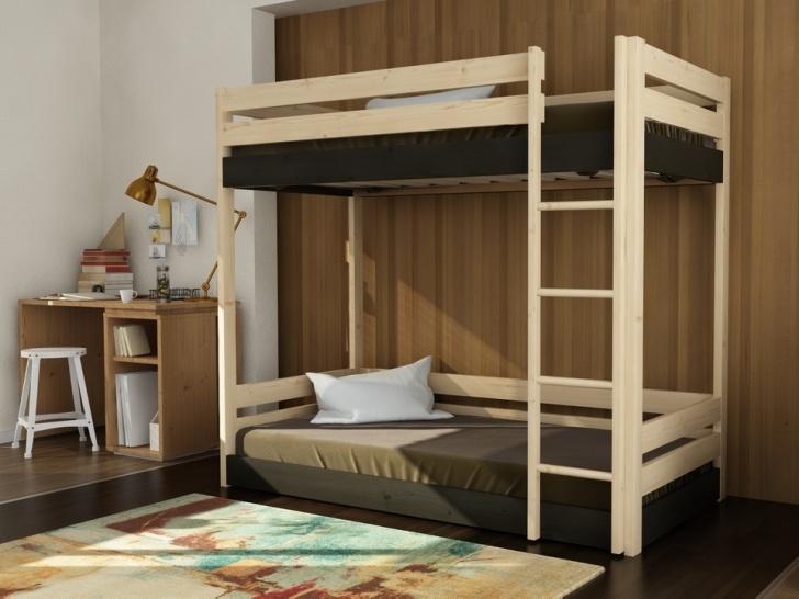 Деревянная двухэтажная кровать из сосны «Руфина 29» в контрастных оттенках дерева