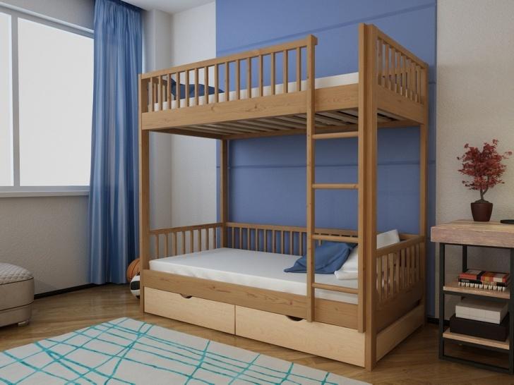 Деревянная двухъярусная кровать с ящиками «Руфина 21» в другом цвете