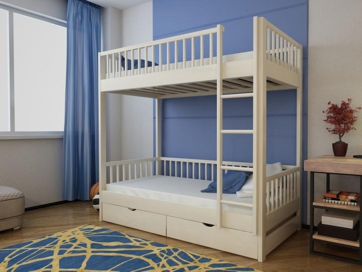 Деревянная двухъярусная кровать с ящиками «Руфина 21»