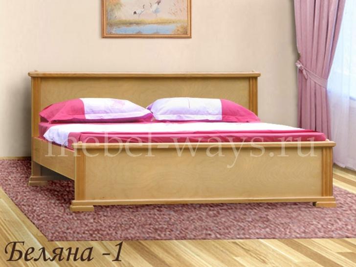 Недорогая деревянная двуспальная кровать «Беляна-1»