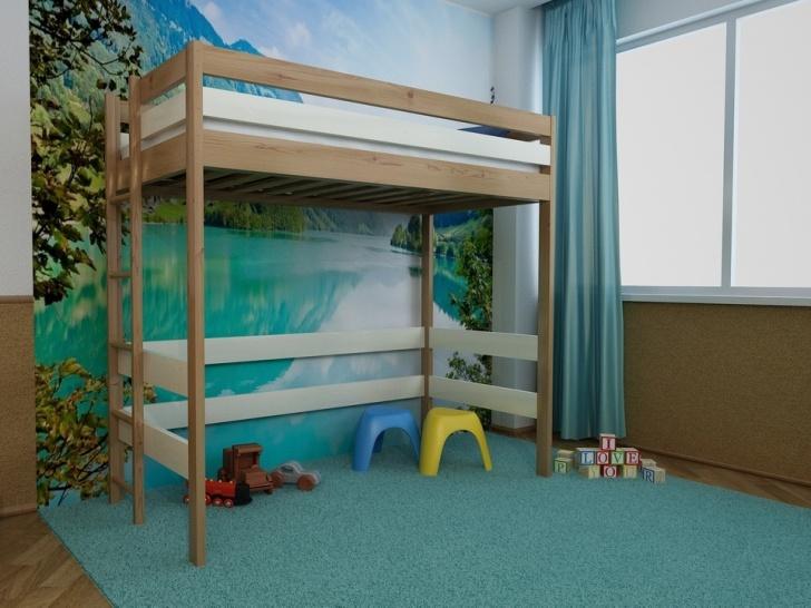 Деревянная кровать-чердак «Руфина-22» в двух цветах