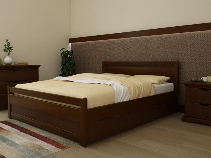 Деревянная кровать из массива с ящиками «Августина-10»