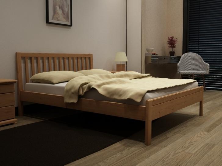 Деревянная кровать с изголовьем решеткой «Идиллия-14»