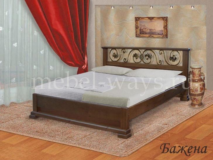 Двуспальная кровать с ковкой «Бажена»