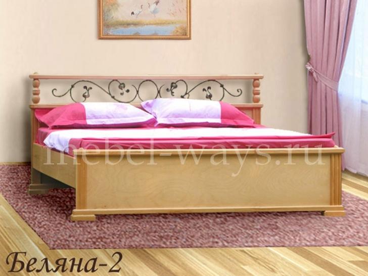 Кровать с элементами ковки «Беляна-2»
