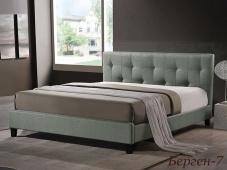 Деревянная кровать с мягким изголовьем «Берген-7»