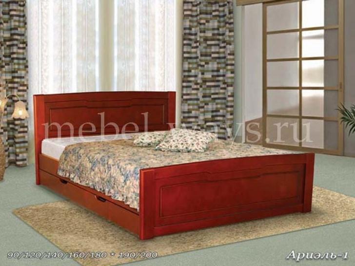 Деревянная кровать «Ариэль-1» с ящиками