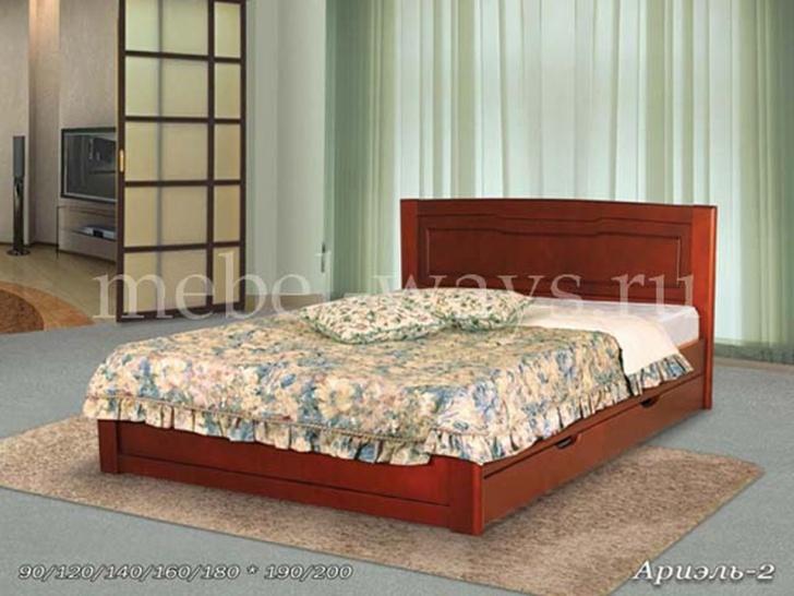 Кровать «Ариэль-2» с ящиками из массива