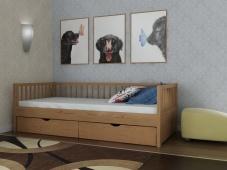 Деревянная кровать с ящиками «Руфина-27»