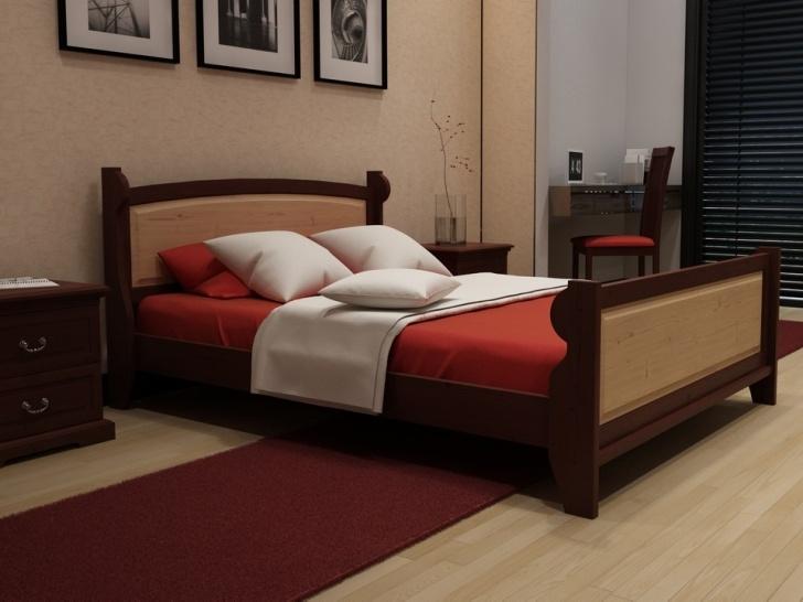 Деревянная кровать со спинками «Идиллия-1»