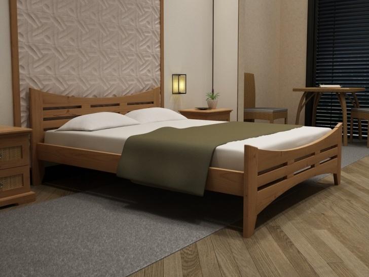 Деревянная кровать в восточной стиле «Идиллия-19»