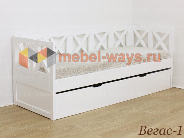 Деревянная подростковая кровать Вегас-1 с ящиком