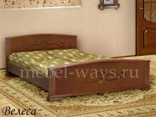 Дешевая двуспальная кровать «Велеса»