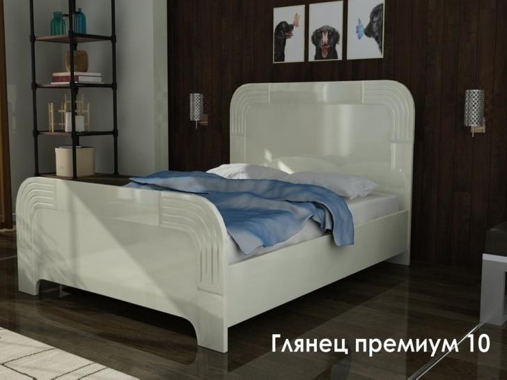 Детская белая глянцевая кровать «Глянец Премиум-10»