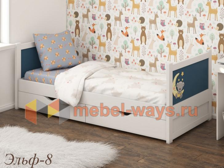 Детская деревянная кроватка с ящиками «Эльф-8»