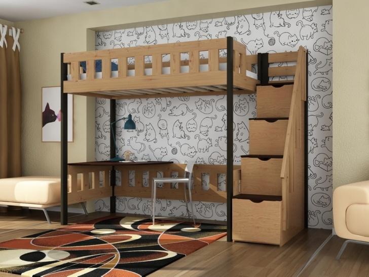 Детская двухъярусная кровать со столом «Руфина 36» со столиком