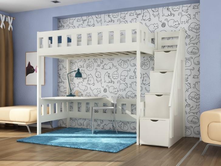 Детская двухъярусная кровать со столом «Руфина 36»