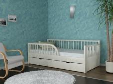 Детская кровать из массива с бортиками «Руфина-34»