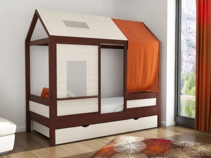 Детская кровать с крышей домиком «ДК-09»