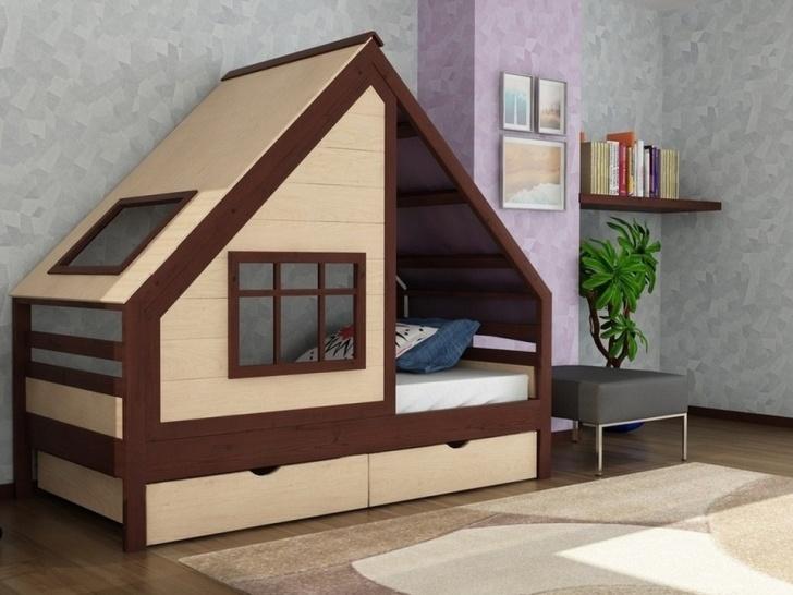 Детская кроватка-домик «ДК-11»