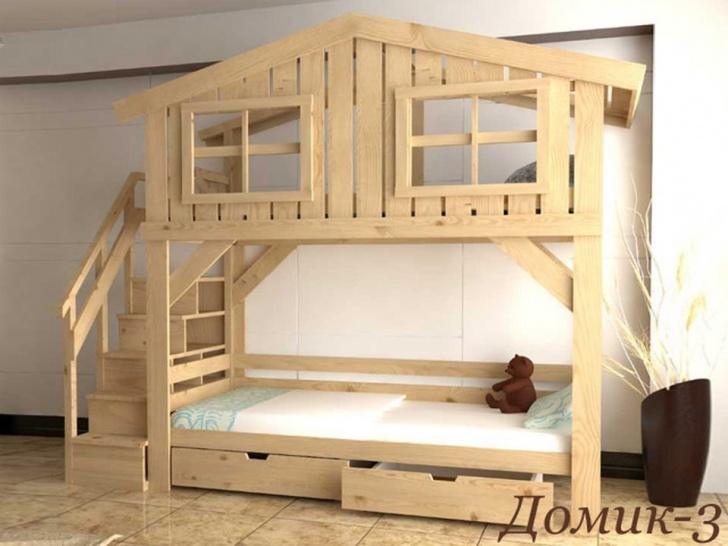 Кровать-домик с игровой зоной «Домик – 3»