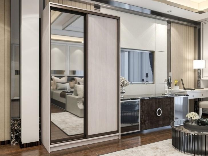 Двухдверный шкаф-купе «Манхеттен – 2» с зеркалом