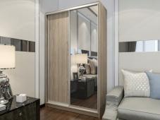 Двухдверный шкаф-купе с зеркалом «Манхеттен – 2»