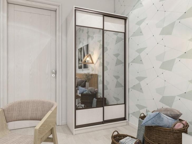 Шкаф купе в спальню с зеркалом «Манхеттен – 5»