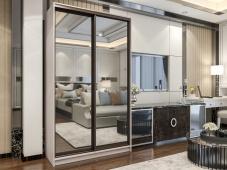 Двухдверный зеркальный шкаф-купе «Манхеттен – 3»
