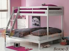 Двухъярусная деревянная кровать с широким спальным местом «Вояж-3»