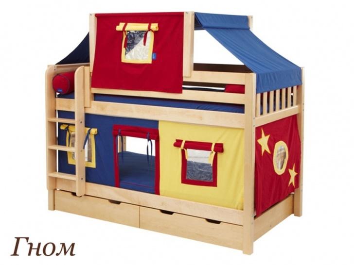 Кровать-домик с чердаком «Гном»