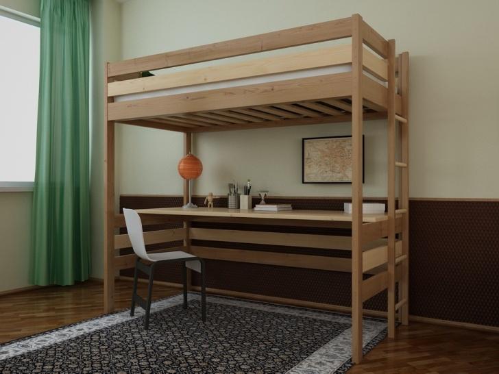 Двухъярусная кровать чердак со столом «Руфина 24» в двух оттенках цвета