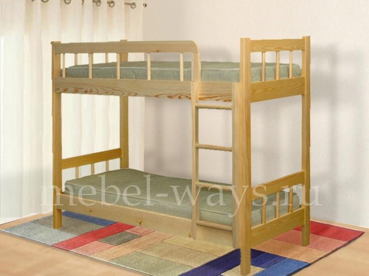 Двухъярусная кровать для подростков с бортиками «Юность-3»