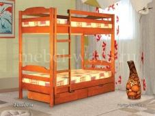 Двухъярусная кровать для взрослых из дерева «Тандем»