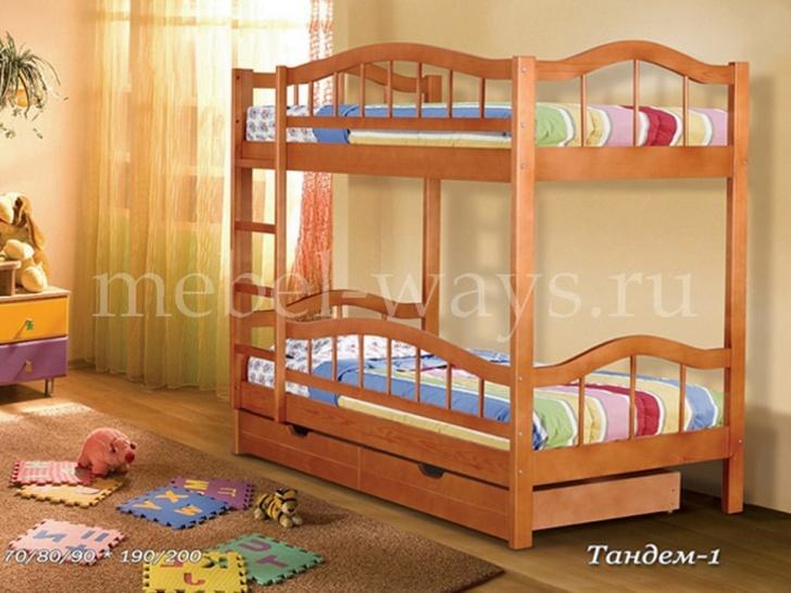 Двухъярусная кровать из сосны «Тандем-1»