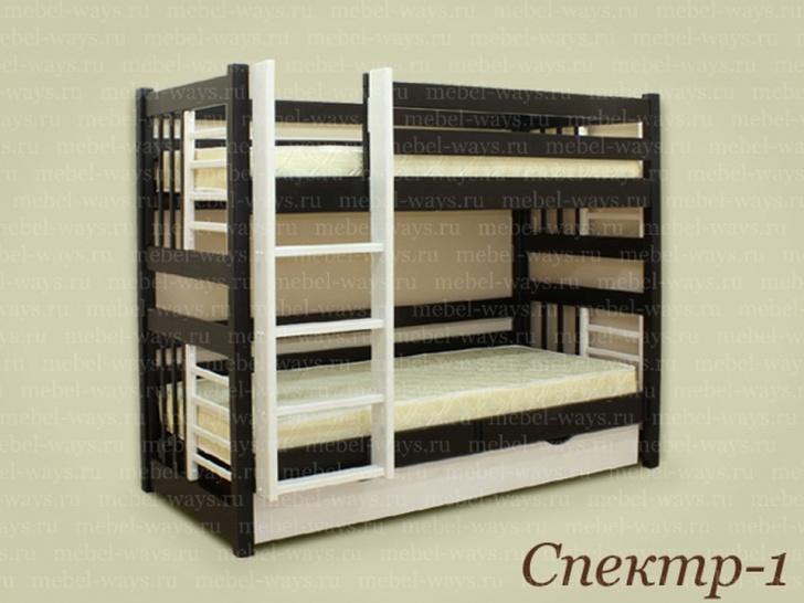 Двухъярусная кровать для малышей с высокими бортами «Спектр-1»